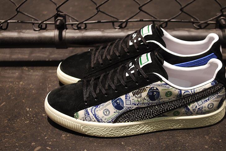"Photo08 - プーマは、オリジナルのドル札紙幣をプリントしたmita sneakersとのコラボレーションモデルCLYDE ""mita sneakers""を発売"