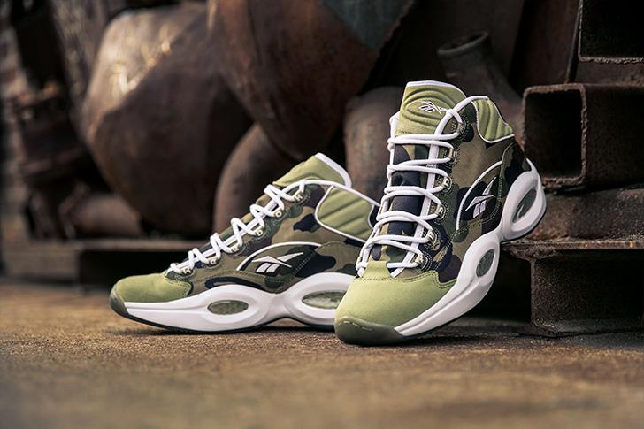 "Photo07 - リーボックから、BAPE®とmita sneakersによるコラボレーションモデルQUESTION MID ""A BATHING APE® x mita sneakers""が発売"