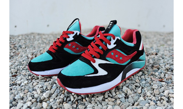 "Photo02 - BAIT x Saucony Grid 9000 ""Viridian Burner"""