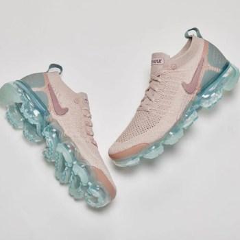 Womens, Nike, VaporMax 2, Pink, Blue, Photo Studio