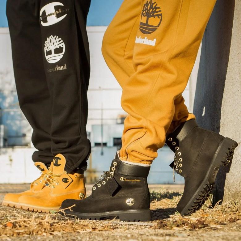 champion-timberland-jogger-pants-boots