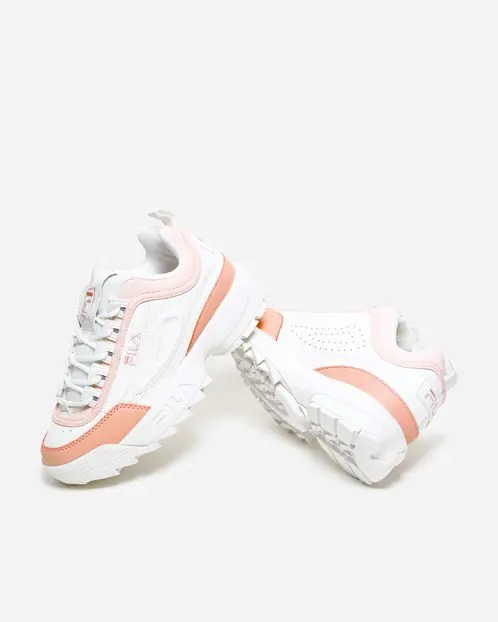 FILA Disruptor CB Low Marshmallow Salmon-2
