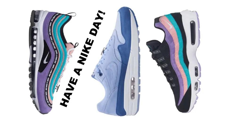 """3月発売予定 """"Have a Nike Day""""パックの全容解禁!大胆なスマイリーフェイスやレトロな広告デザインなど、遊び心ある最新ビジュアルをチェック"""