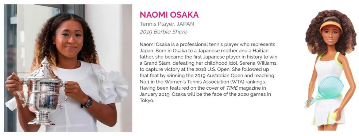 International Women's Day Rolemodel Barbie NAOMI OSAKA-01
