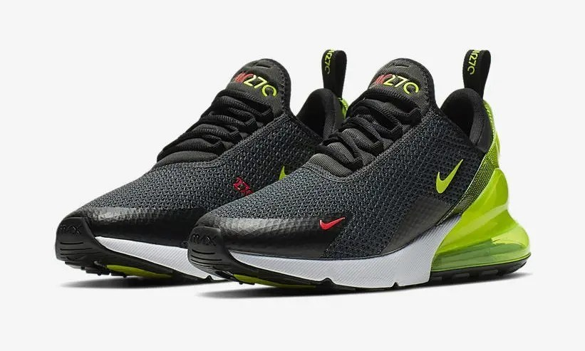 "NIKE AIR MAX 270 RF ""Anthracite Vlot Black Bright Crimson"" AQ9164-005-01"