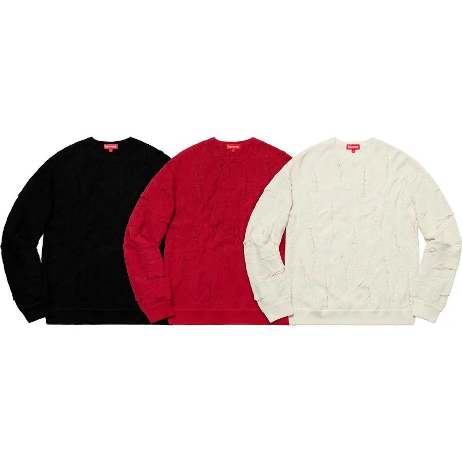 Supreme Week 7 Textured Pattern Sweater
