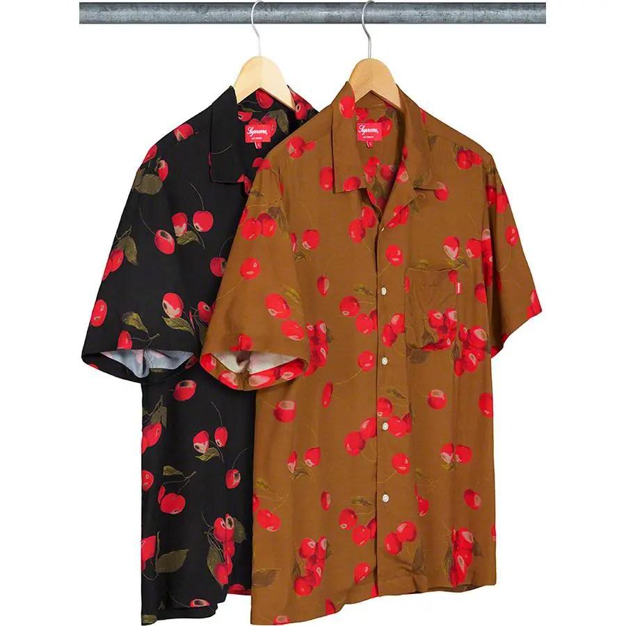 Supreme_2019ss_week 9 _cherry_rayon_shirt