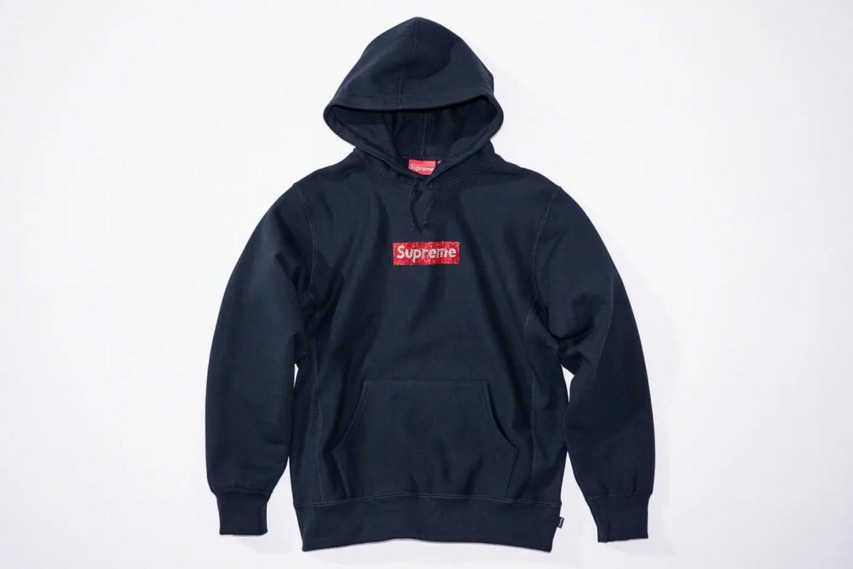 Supreme_2019ss_week 9 _swarovski_box_logo_hoodie_navy