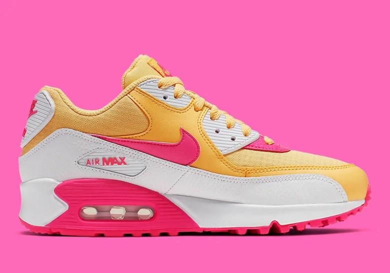 nike-air-max-90-womens-yellow-pink-white-325213-7024