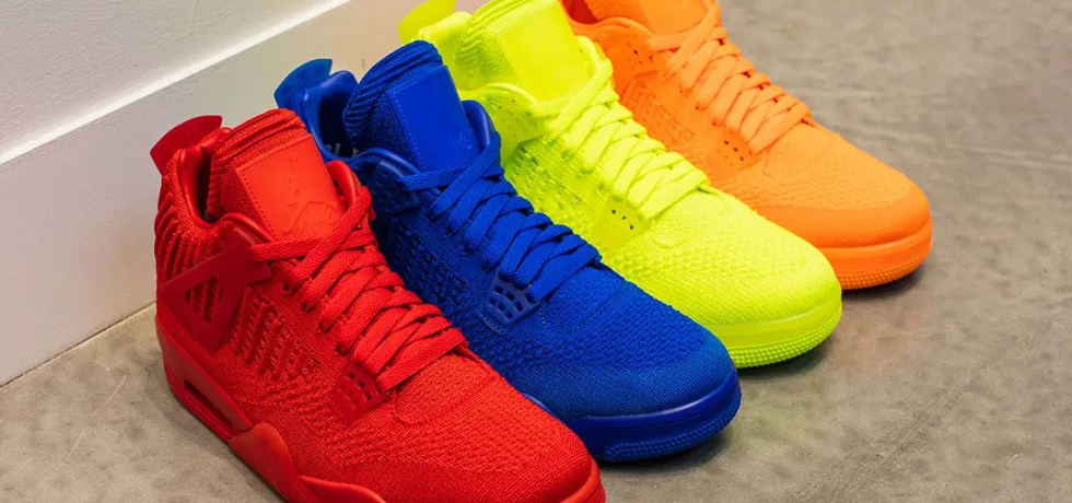 NIKE AIR JORDAN 4 FLYKNIT COLLECTION 4COLORS