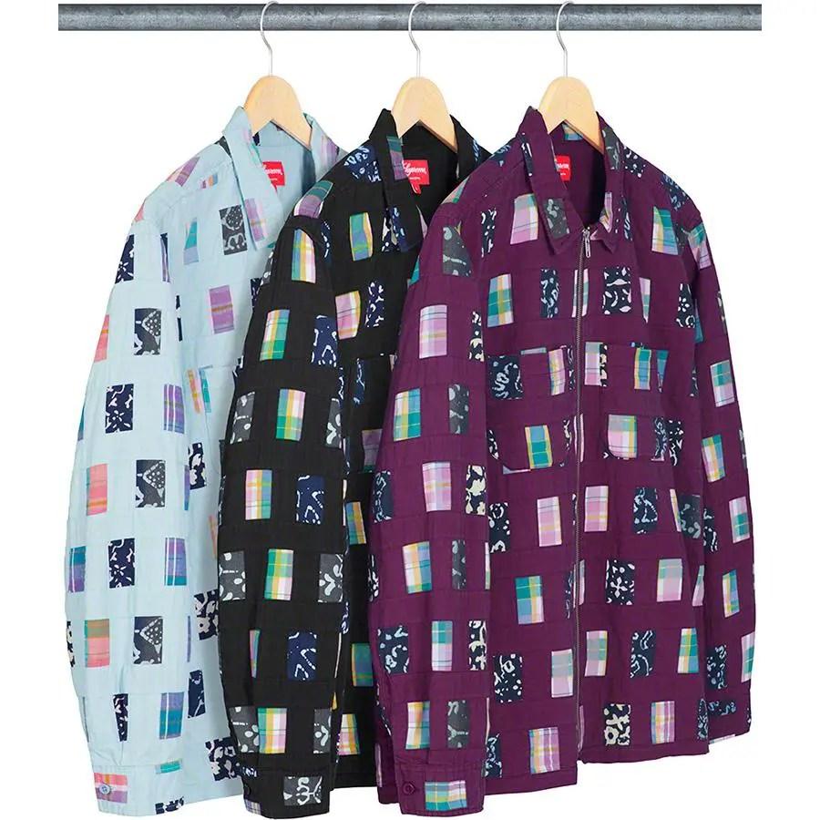Supreme Patchwork Zip Up Shirt
