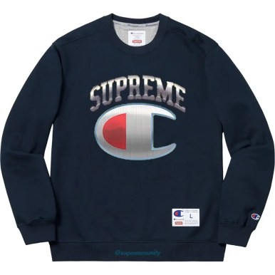 Supreme_2019ss_week14_release_champion_chrome_crewneck_navy