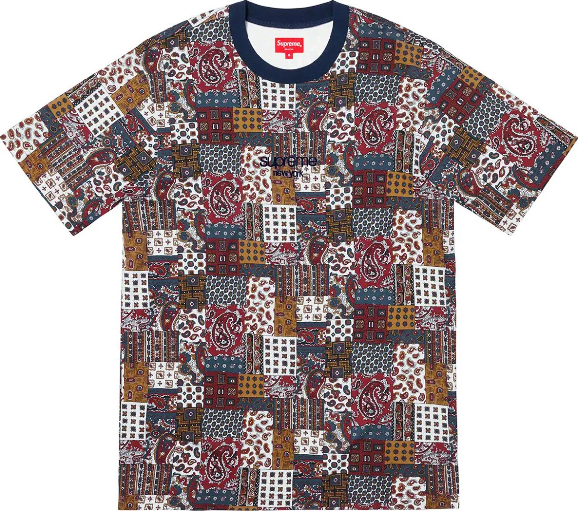Supreme Patchwork Paisley SS Top-01