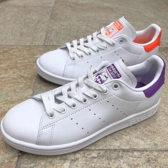 adidas originals stan smith orange EE5863 purple EE5864-01