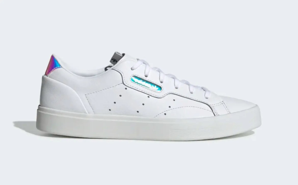 adidas sleek shoes Cloud White Crystal White Core Black EG2685-01