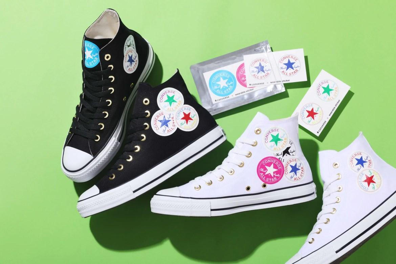 Converse ALL STAR WEARABLE STICKER HI WHITE BLACK-01