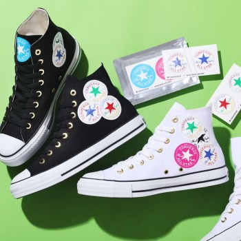 Converse ALL STAR WEARABLE STICKER HI WHITE BLACK-01