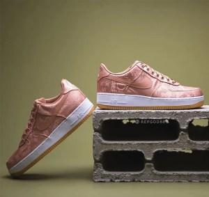 "CLOT × Nike Air Force 1 Low ""Rose Gold"" (クロット × ナイキ エア フォース 1 ロー ""ローズ ゴールド""): CJ5290-600"