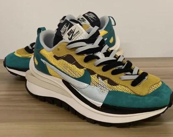 サカイ ナイキ ヴェイパーワッフル イエロー グリーン Sacai Nike VaporWaffle Tour Yellow Stadium Green CV1363-700 side