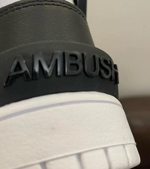 Ambush Nike Dunk High Black White アンブッシュ ナイキ コラボ ダンク ハイ ブラック ホワイト heel
