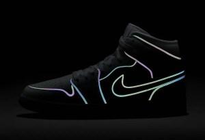イリディセント素材で縁取りを施したAIR JORDAN 1 MID(エアジョーダン1 ミッド)が登場!Nike WMNS Air Jordan 1 SE_BV0319-002
