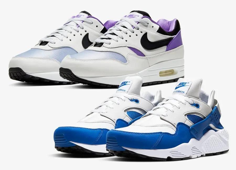 "【Nike ""DNA Series 87 × 91 Pack"" Air Max 1 & Air Huarache】ナイキ DNA シリーズ 87 × 91 エア マックス 1 & エア ハラチ AR3864-101, AR3863-101"