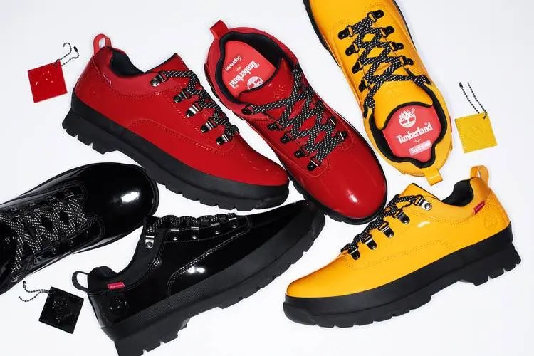 Supreme 2020ss week5 Supreme Timberland Patent Leather Euro Hiker Low-01
