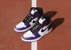 "Nike Air Jordan 1 High OG ""Court Purple"" (ナイキ エア ジョーダン 1 ハイ OG ""コート パープル"") 555088-500, 575441-500"