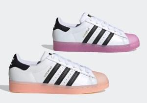 """adidas Superstar """"Jell Toe"""" (アディダス スーパースター """"ジェル トゥ"""") FW3553, FW3554"""