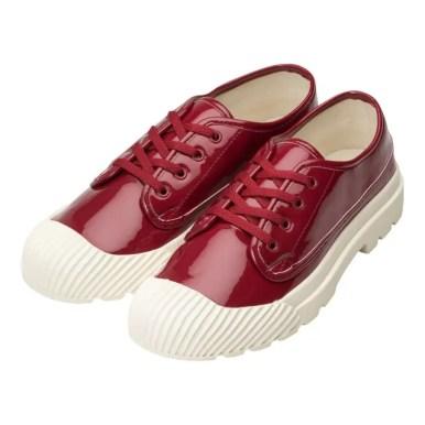 GU_by Uniqlo_rain_sneakers_red