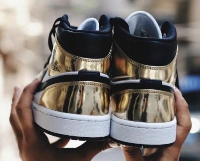 """Nike Air Jordan 1 Mid SE """"Metallic Gold"""" (ナイキ エア ジョーダン 1 ミッド SE """"メタリック ゴールド"""") DC1419-700"""