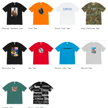 Supreme 2020fw collection Tees-01