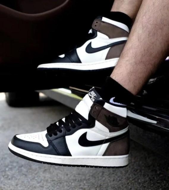 "Nike Air Jordan High ""Dark Mocha"" ナイキ エアジョーダン ハイ ""ダークモカ"" 555088-105 wearing"
