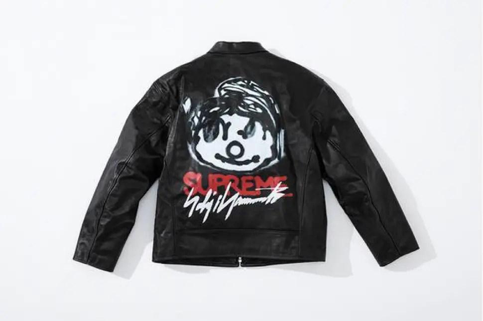 supreme 2020fw week4 シュプリーム 秋冬コレクション Leather Work Jacket black back