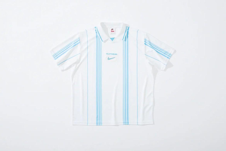 supreme nike collaboration apparel 2020fw 20200905 week2 シュプリーム ナイキ 2020秋冬 Stripe Soccer Jersey white