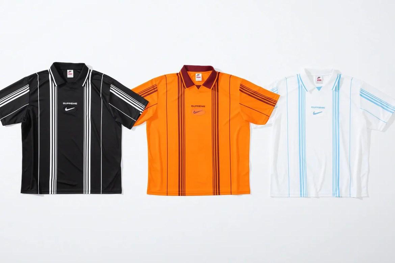 supreme nike collaboration apparel 2020fw 20200905 week2 シュプリーム ナイキ 2020秋冬 Stripe Soccer Jersey all