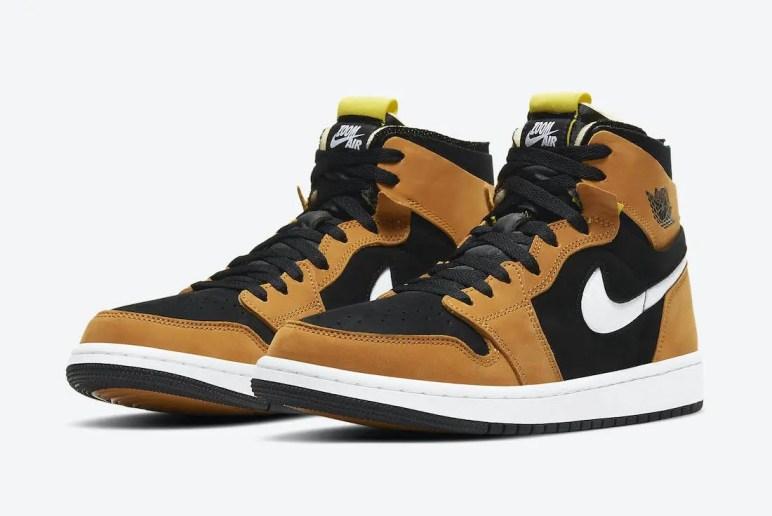 """ナイキ エア ジョーダン 1 ズーム コンフォート """"ブラックウィート"""" Nike-Air-Jordan-1-Zoom-Comfort-Black-Wheat-CT0978-002-pair"""