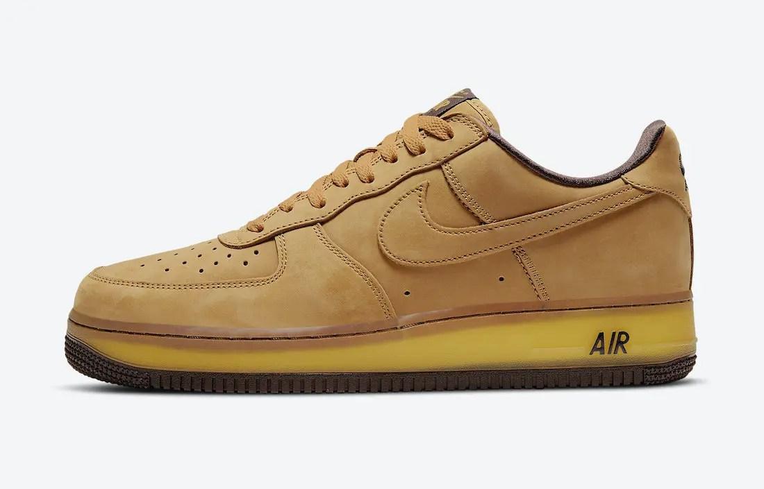 ナイキ エア フォース 1 ウィート モカ Nike Air Force 1 Wheat Mocha DC7504-700 side swoosh