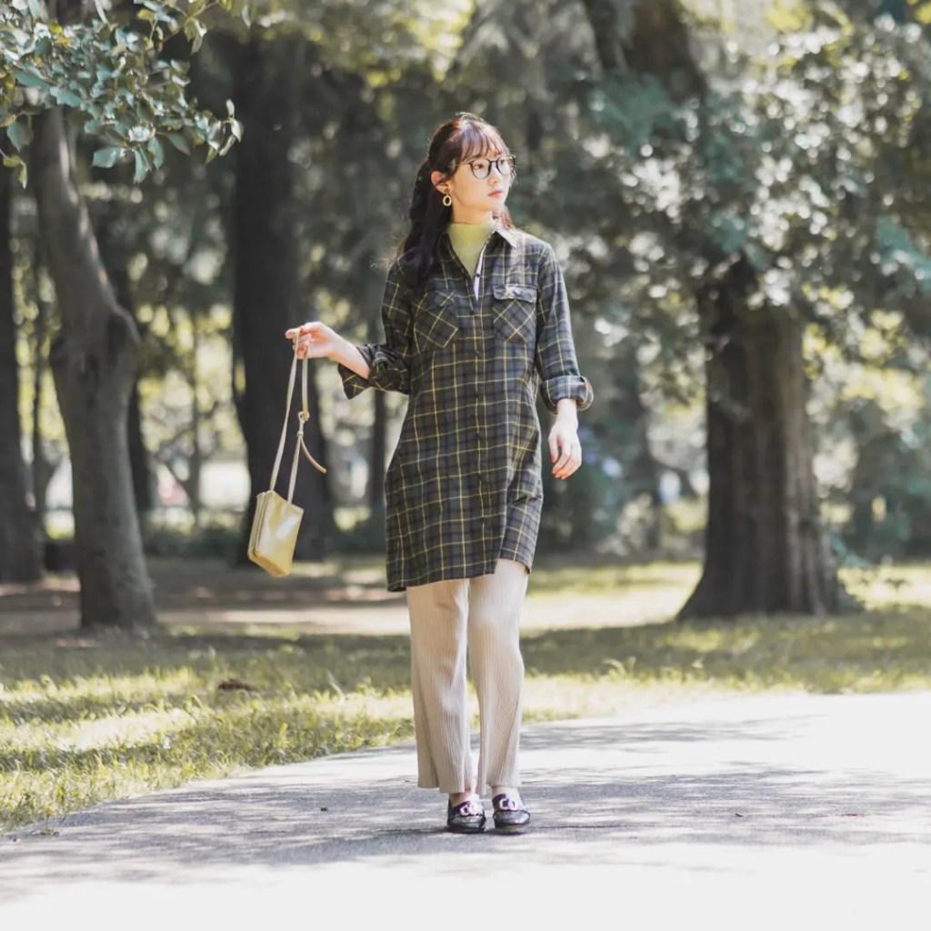 ワークマン女子 おすすめ 人気 アイテム 商品 コーディネート Workman Joshi Coodinate items チェック柄 シャツ
