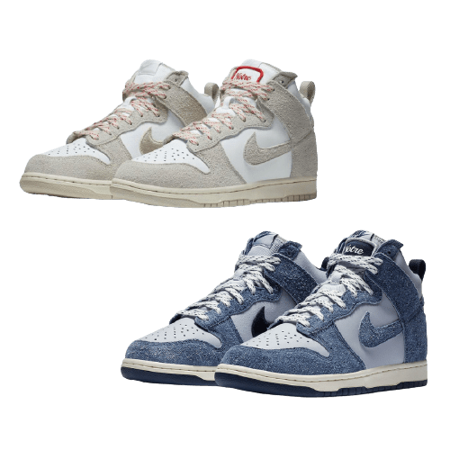 "Notre x Nike Dunk High ""Blue Void"" ノートル × ナイキ ダンク ハイ ""ブルー ボイド"" 色:Pearl White/Blue Void-Grand Purple CW3092-400 main"