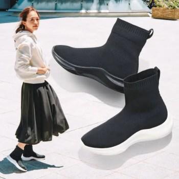 人気の【ニットスニーカー】で秋冬のおしゃれをバージョンアップ! knit-ladies-sneakers-winter-styles