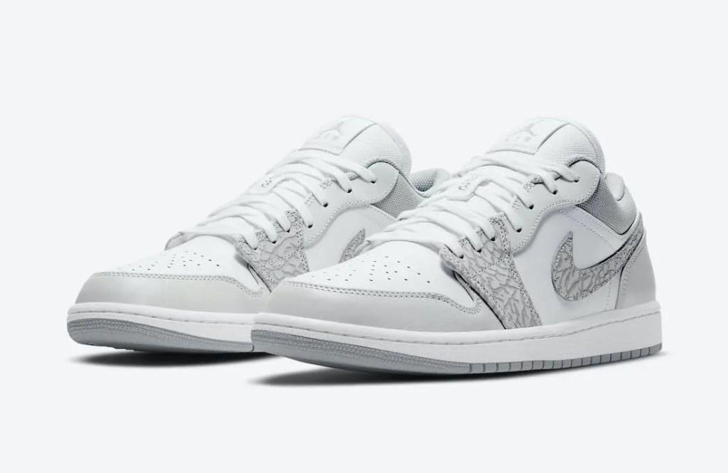 """ナイキ エア ジョーダン 1 ロー PRM """"エレファントプリント""""-Nike-Air-Jordan-1-Low-PRM-Elephant-Print-DH4269-100-pair"""