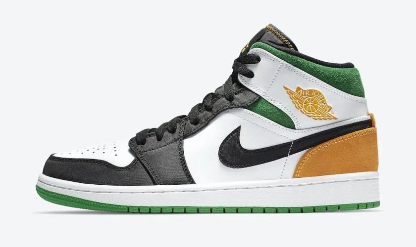 Nike-Air-Jordan-1-Mid-SE-White-Black-Green-Yellow-852542-101-Release-Date