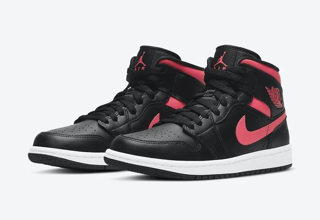 """ナイキ ウィメンズ エア ジョーダン 1 ミッド """"サイレン レッド"""" Nike-Air-Jordan-1-Mid-Siren-Red-BQ6472-004-pair"""