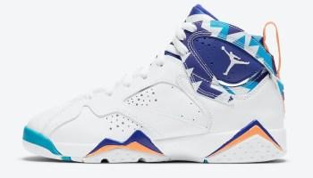"""ナイキ エア ジョーダン 7 GS """"クローリンブルー"""" Nike-Air-Jordan-7-GS-White-Chlorine-Blue-442960-100-2-side"""