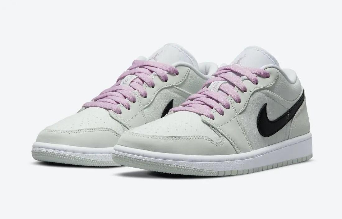 """ナイキ エア ジョーダン 1 ロー SE """"ベアリーグリーン"""" Nike-Air-Jordan-1-Low-SE-Barely-Green-CZ0776-300-pair"""