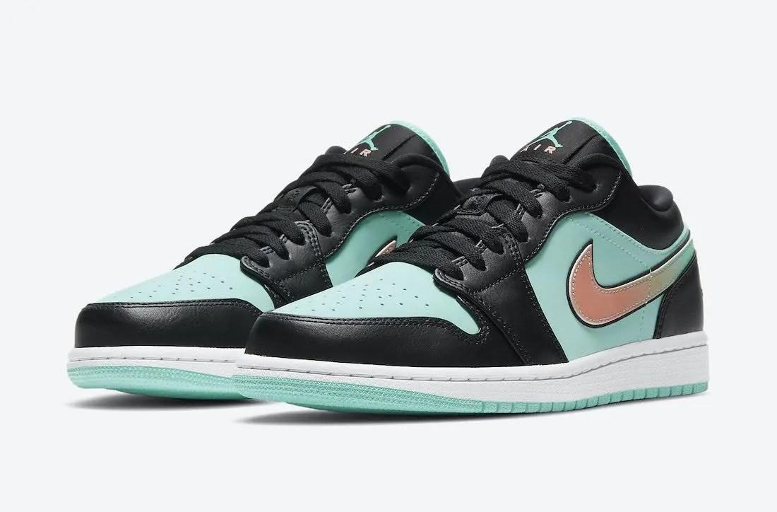 """ナイキ エア ジョーダン 1 ロー SE """"トロピカルツイスト"""" Nike-Air-Jordan-1-Low-SE-Tropical-Twist-CK3022-301-pair"""