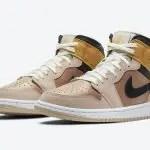 """ナイキ エア ジョーダン 1 ミッド SE """"パーティクル ベージュ"""" Nike-Air-Jordan-1-Mid-SE-Particle-Beige-DD2224-200-pair"""