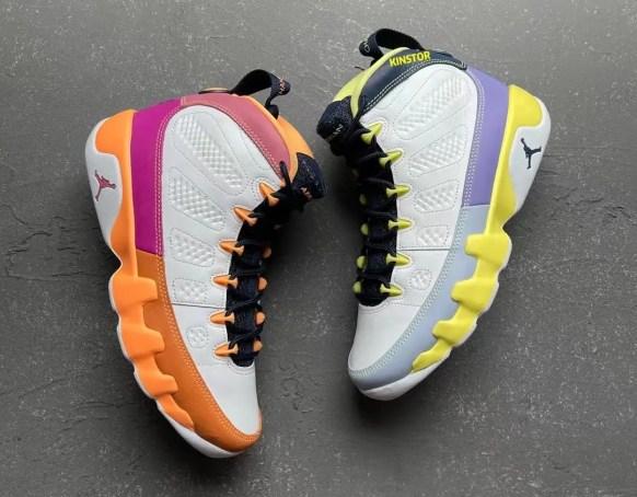 """ナイキ エア ジョーダン 9 ウィメンズ """"チェンジ ザ ワールド"""" Nike-Air-Jordan-9-Change-The-World-Cactus-Flower-CV0420-100-detail"""