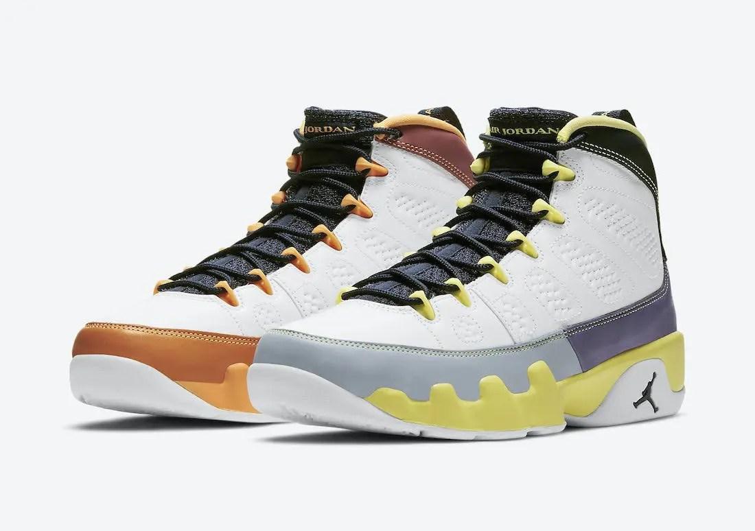"""ナイキ エア ジョーダン 9 ウィメンズ """"チェンジ ザ ワールド"""" Nike-Air-Jordan-9-Change-The-World-Cactus-Flower-CV0420-100-pair"""